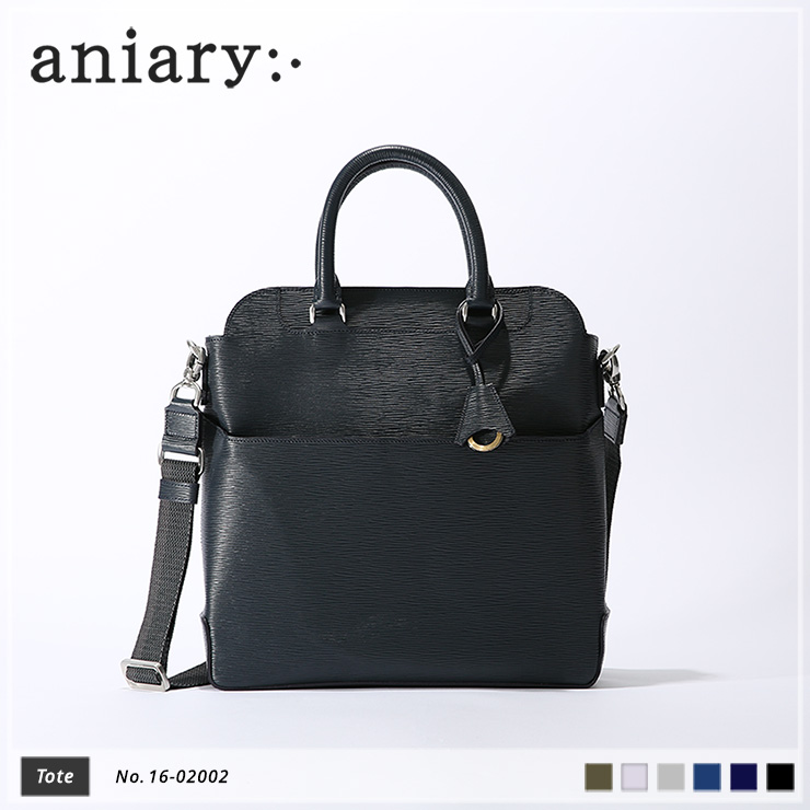 【aniary|アニアリ】トートバッグ Wave Leather 16-02002 Dark Blue