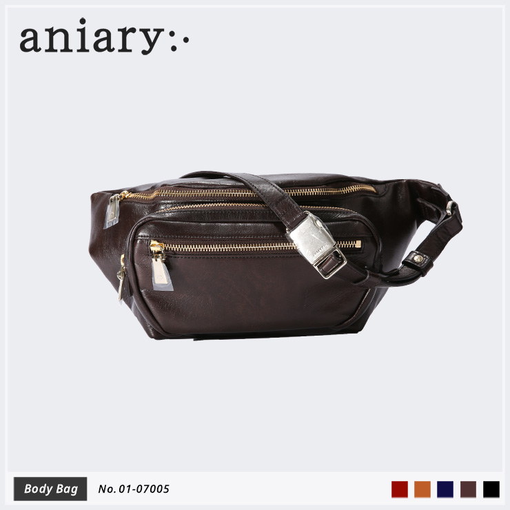 【aniary|アニアリ】ボディバッグ Antique Leather 01-07005 Dark Brown