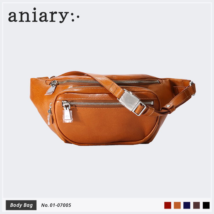 【aniary|アニアリ】ボディバッグ Antique Leather 01-07005 Camel