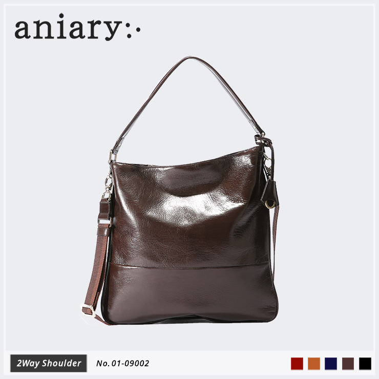 【aniary|アニアリ】2Way ショルダー Antique Leather 01-09002 Dark Brown