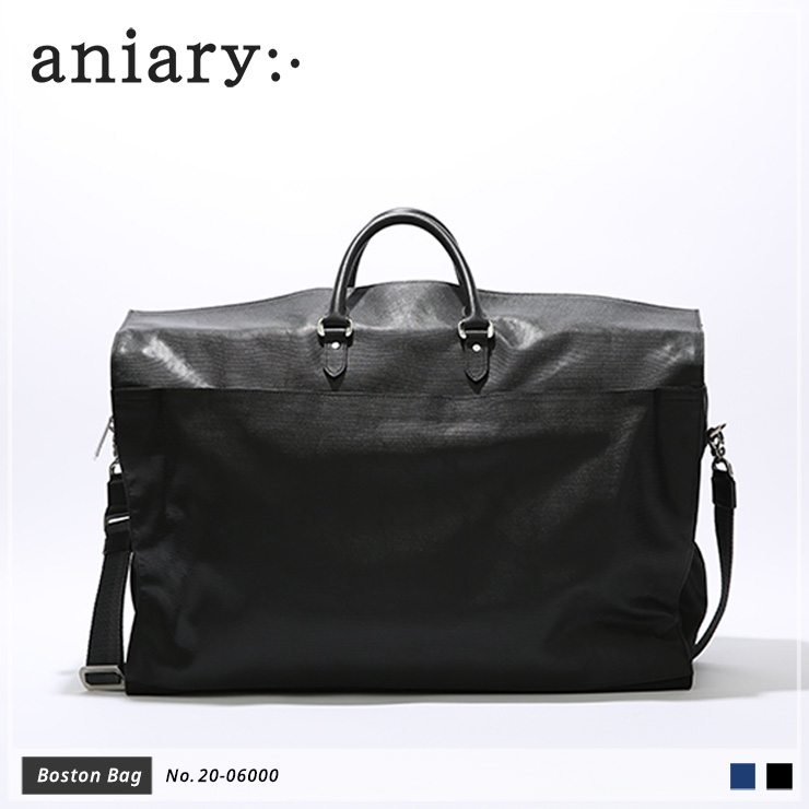 【aniary|アニアリ】ボストンバッグ Refine Leather 20-06000 Black