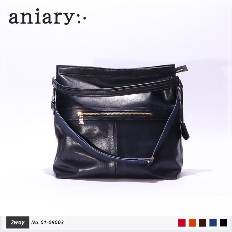 【aniary|アニアリ】2Wayショルダーバッグ Antique Leather 01-09003 Dark Blue