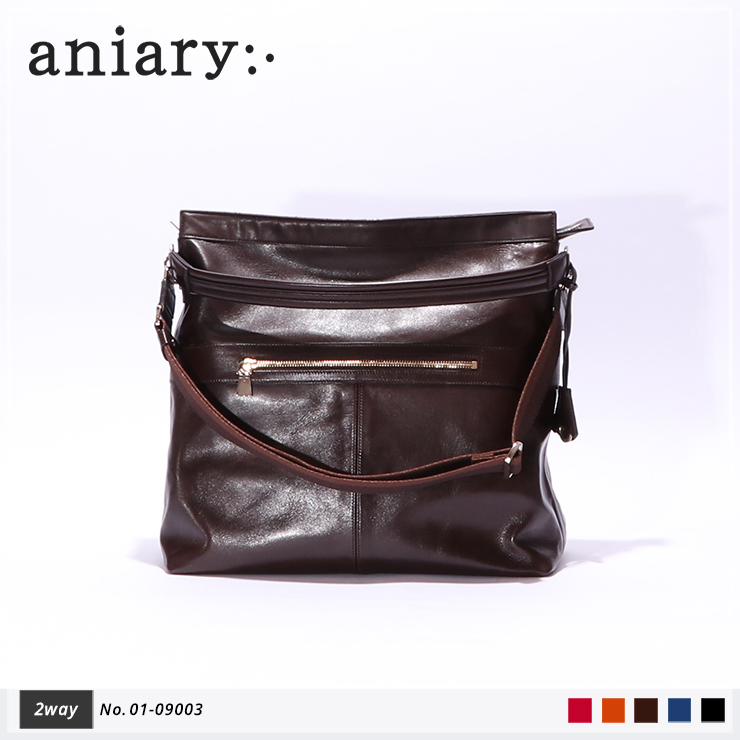 【aniary|アニアリ】2Wayショルダーバッグ Antique Leather 01-09003 Dark Brown