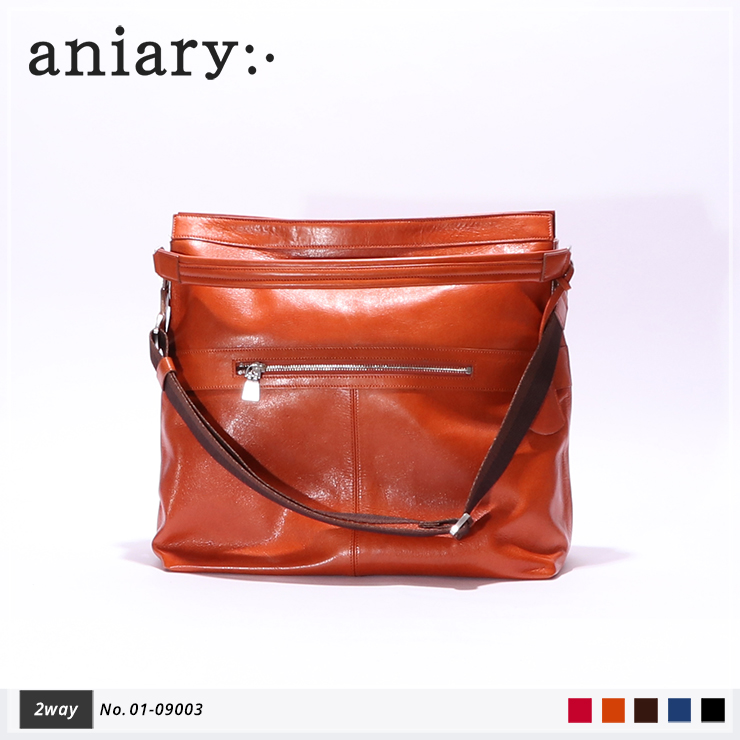 【aniary|アニアリ】2Wayショルダーバッグ Antique Leather 01-09003 Dark Orange