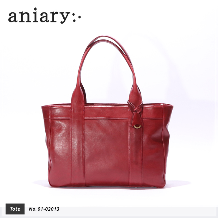 【aniary|アニアリ】トートバッグ Antique Leather 01-02013Cardinal Red