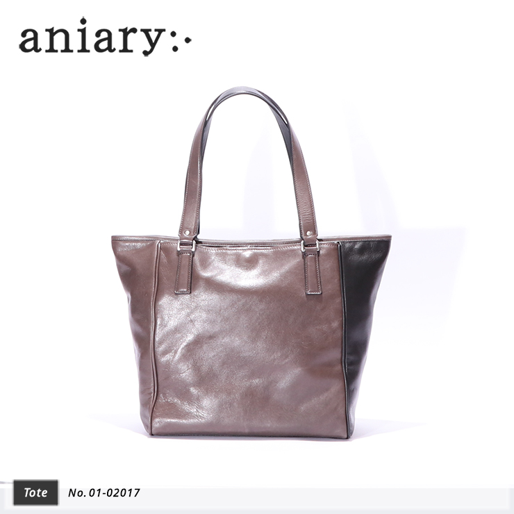 【aniary|アニアリ】トートバッグ Antique Leather 01-02017 BlackGray