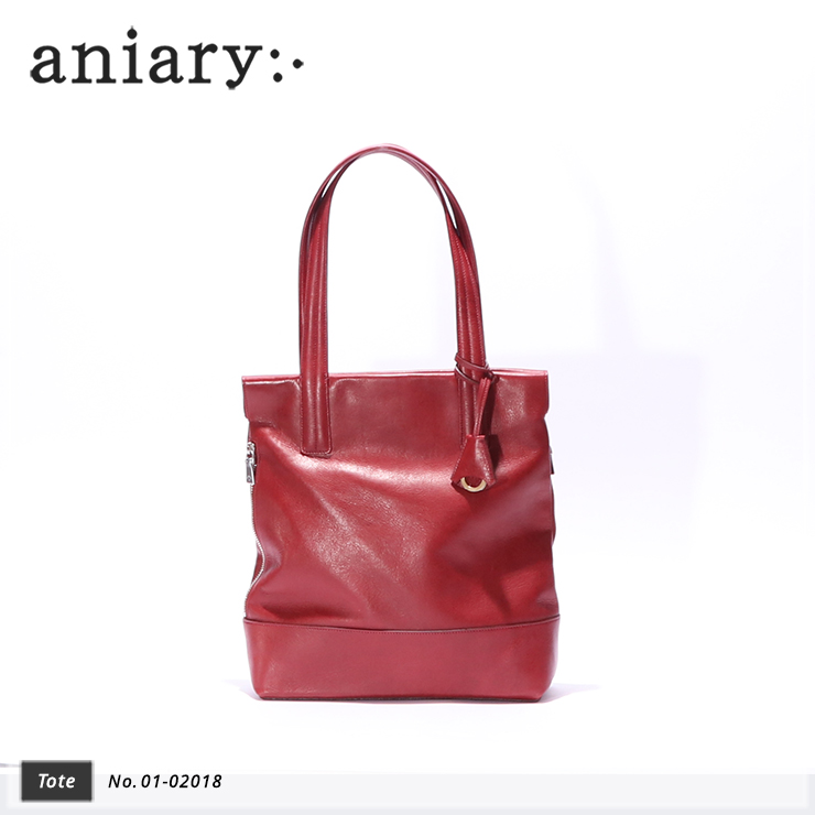 【aniary|アニアリ】トートバッグ Antique Leather 01-02018 Cardinal Red