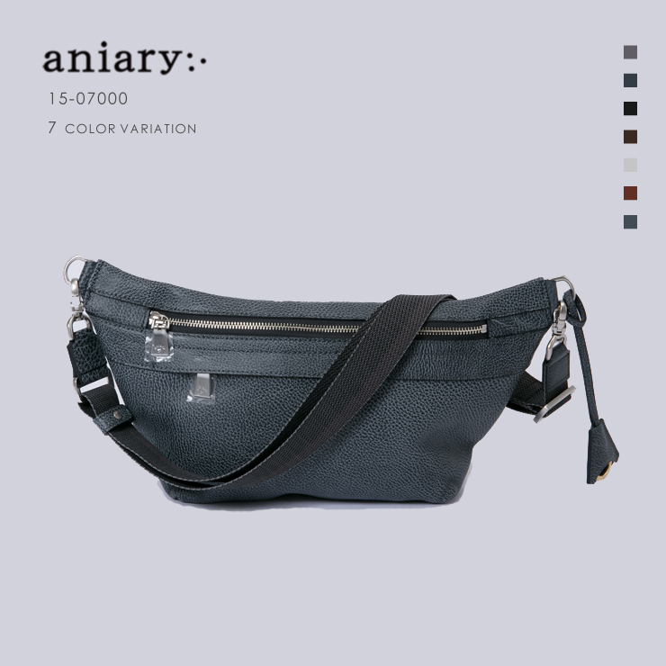 aniary アニアリ  Grind Leather グラインドレザー 牛革 ボディバッグ  Body 15-07000