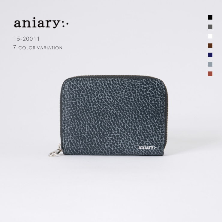 aniaryコインケース Grind Leather 牛革 Coin Case 15-20011