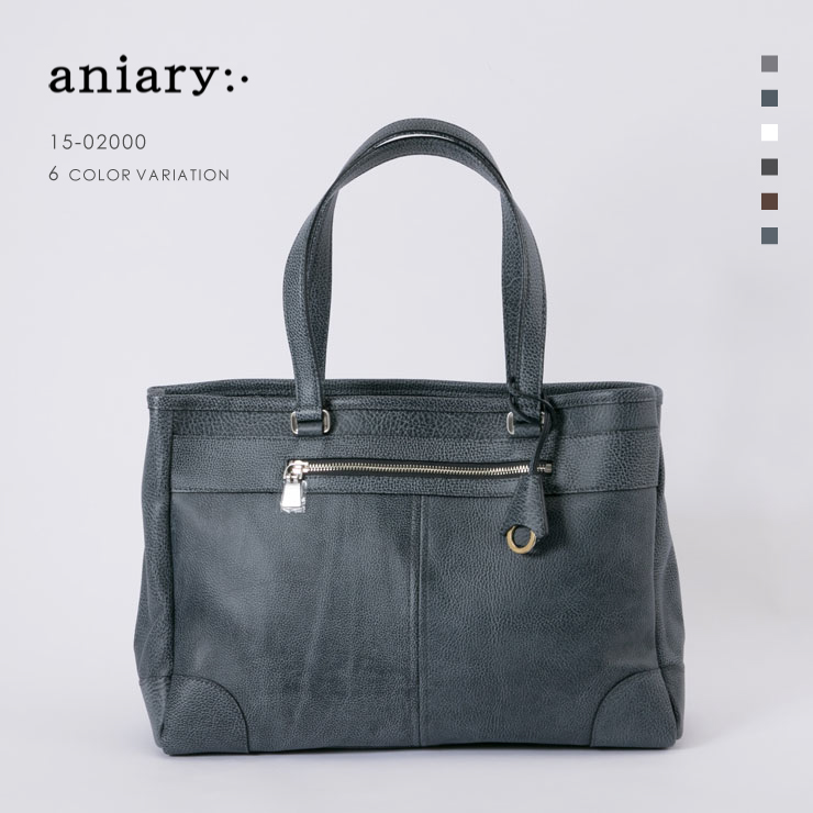 aniary トートバッグ Grind Leather 牛革 Totebag 15-02000-nvgy