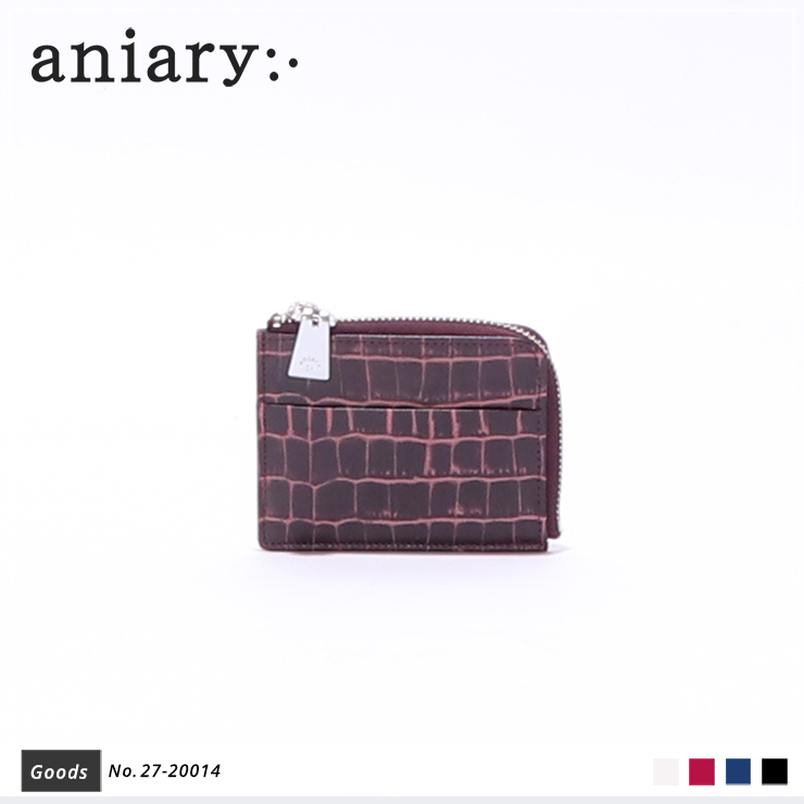 【aniary|アニアリ】コインケース Tint Embossing Leather 27-20014 Bordeaux