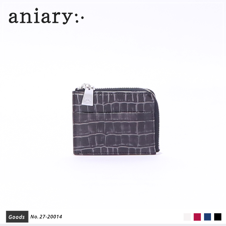 【aniary|アニアリ】コインケース Tint Embossing Leather 27-20014 Navy