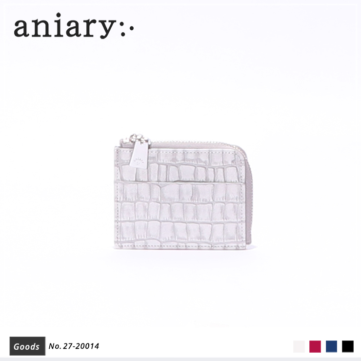 【aniary|アニアリ】コインケース Tint Embossing Leather 27-20014 White