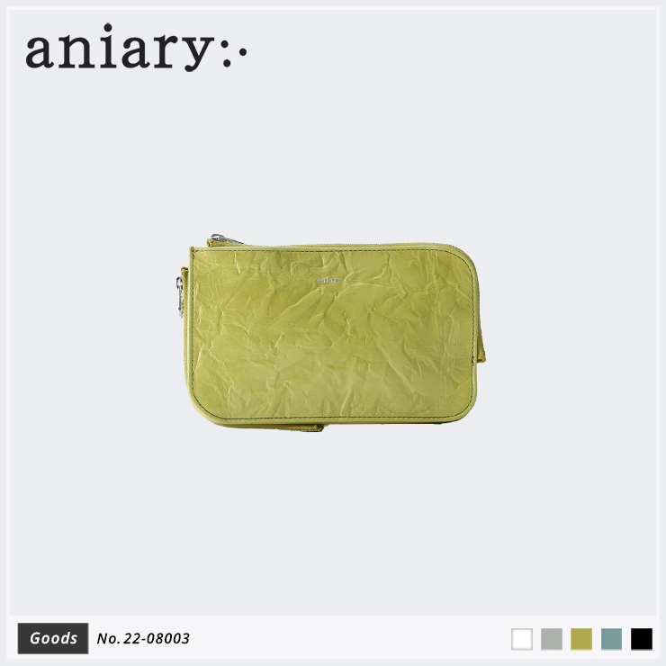 【aniary|アニアリ】マルチケース Rughe Leather 22-08003 Yellow