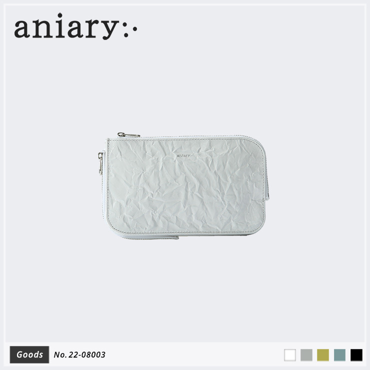 【aniary|アニアリ】マルチケース Rughe Leather 22-08003 White