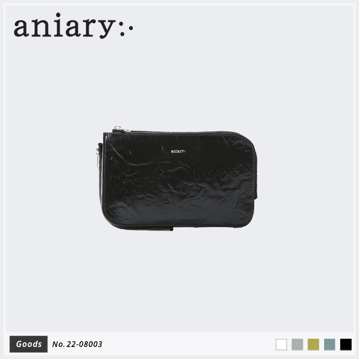 【aniary|アニアリ】マルチケース Rughe Leather 22-08003 Black