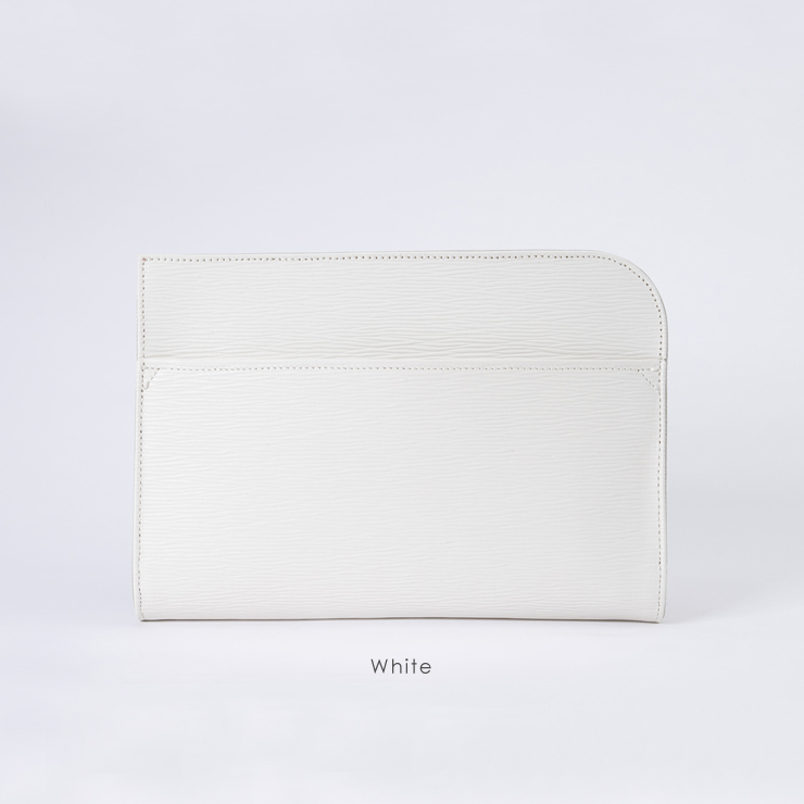 aniary クラッチバッグ Wave Leather 牛革 Clutchbag 16-08000-wh