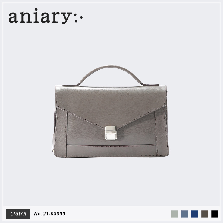 【aniary|アニアリ】クラッチバッグ Inheritance Leather 21-08000 Smoky Brown