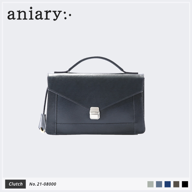 【aniary|アニアリ】クラッチバッグ Inheritance Leather 21-08000 Navy