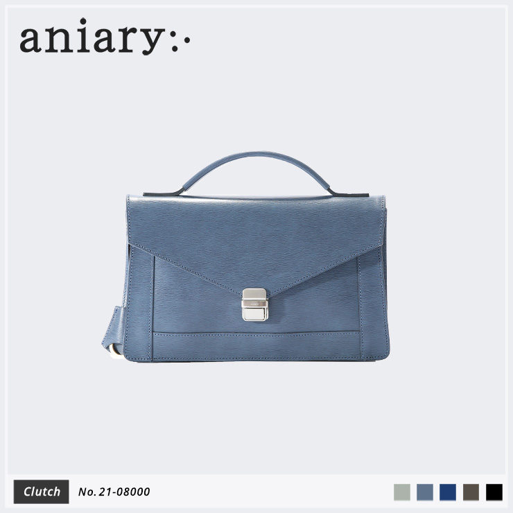 【aniary|アニアリ】クラッチバッグ Inheritance Leather 21-08000 Blue