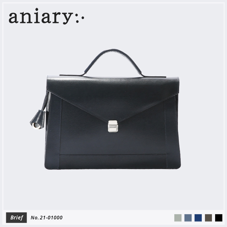 【aniary|アニアリ】ブリーフケース Inheritance Leather 21-01000 Navy
