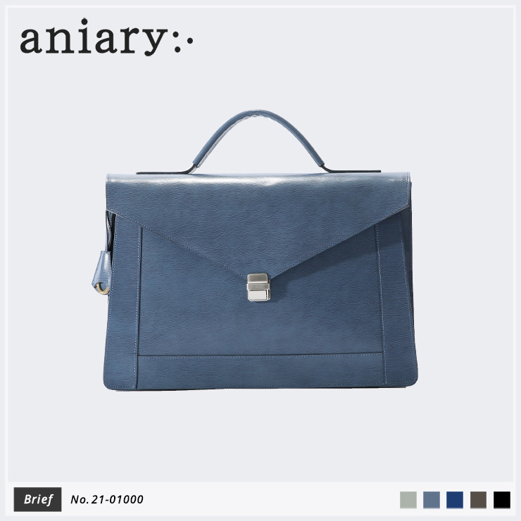 【aniary|アニアリ】ブリーフケース Inheritance Leather 21-01000 Blue