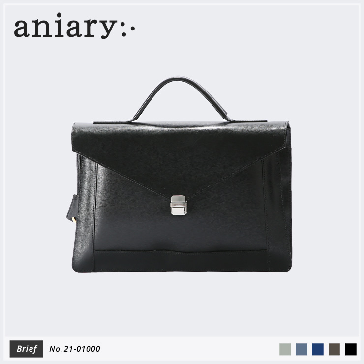 【aniary|アニアリ】ブリーフケース Inheritance Leather 21-01000 Black