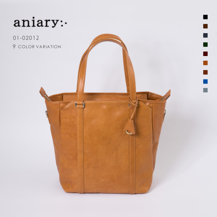 aniary トートバッグ Antique leather 牛革 Totebag 01-02012