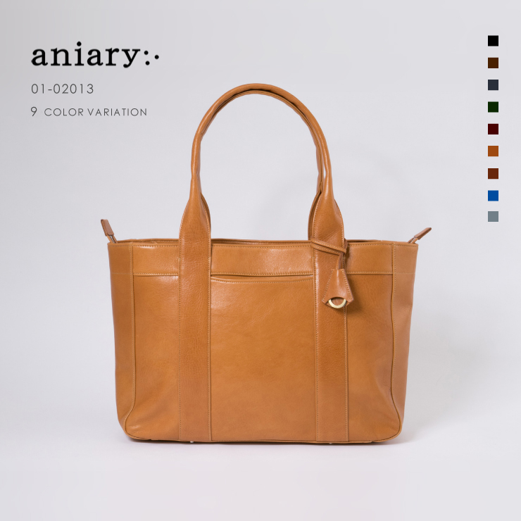 aniary トートバッグ Antique leather 牛革 Totebag 01-02013